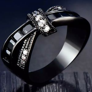 Black knot ring/ bow